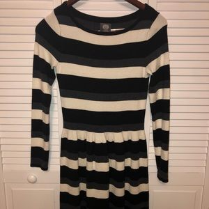 Vince Camuto striped long sleeved dress